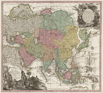 Matthew Seutter Classic 18th century map of Asia