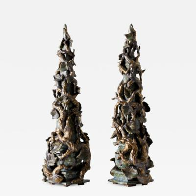 Matthew Solomon Pair of Obelisks by Matthew Solomon
