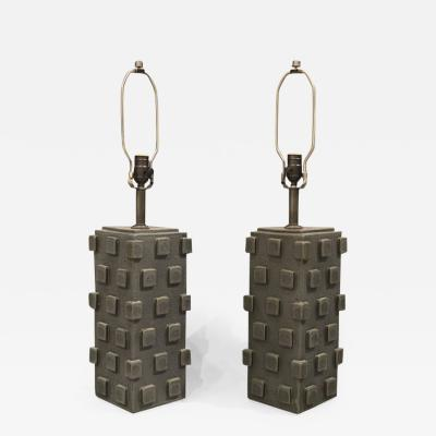 Matthew Ward Pair of Ceramic Table Lamps by Matthew Ward 2018