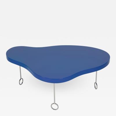 Matthews Parker Royale 1 Blue Biomorphic Coffee Table
