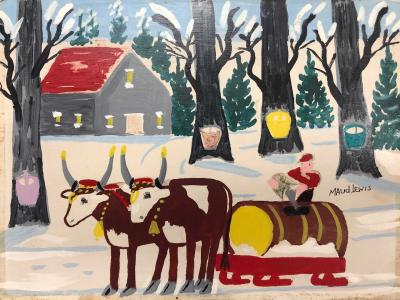 Maud Lewis Collecting Maple Sugar
