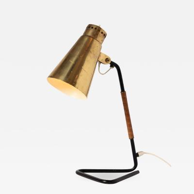 Mauri Almari 1950s Mauri Almari Brass and Metal Table Lamp for Itsu