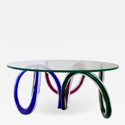 Maurice Barilone Murano Art Glass Coffee Table by Maurice Barilone Italy