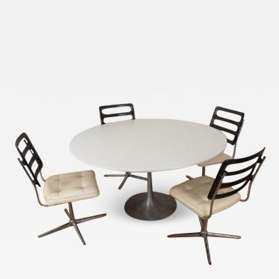 Maurice Burke Arkana tulip table by Maurice Burke with 4 chairs