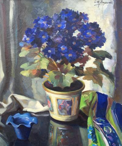 Maurice Compris Blue Gerber Daisies