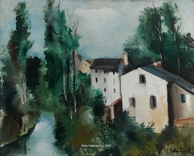 Maurice De Vlaminck Maisons au bord de la riviere