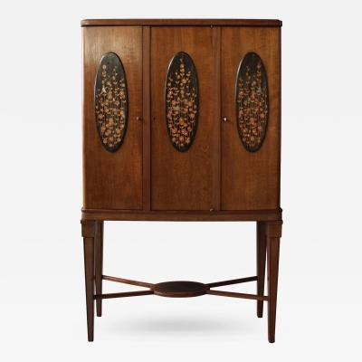 Maurice Dufr ne Fine French Art Deco Three Door Cabinet by Maurice Dufre ne