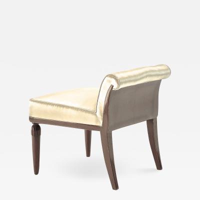 Maurice Dufr ne Maurice Dufrene Art Deco roll back refined vanity stool