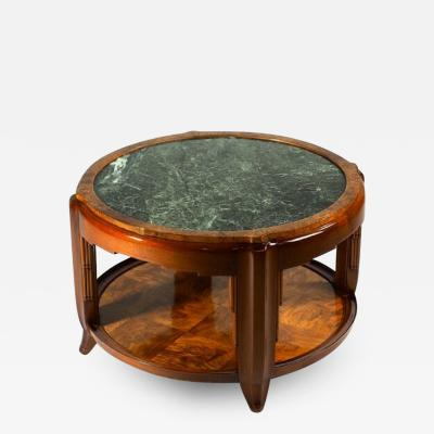 Maurice Dufr ne Maurice Dufrene Low Round Table with Marble Top