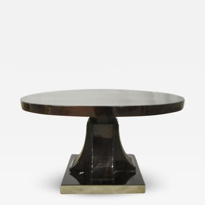 Maurice Dufr ne Maurice Dufrene Modernist Rosewood Art Deco Coffee Table with Nickel Base