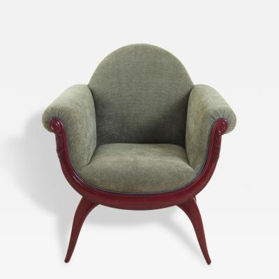 Maurice Dufr ne Maurice Dufrene Pair of Armchairs