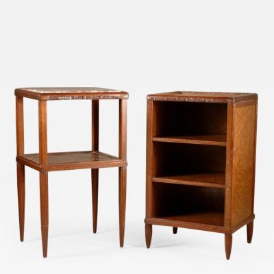 Maurice Dufr ne Maurice Dufrene Pair of Side Tables or Nightstands