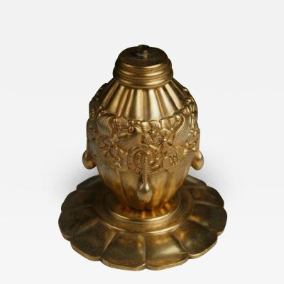 Maurice Dufr ne Maurice Dufrene Small Gilt Bronze Lamp