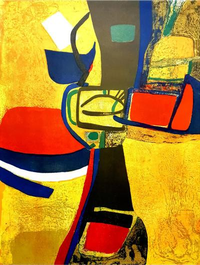 Maurice Est ve Maurice Est ve Composition Original Lithograph 1965
