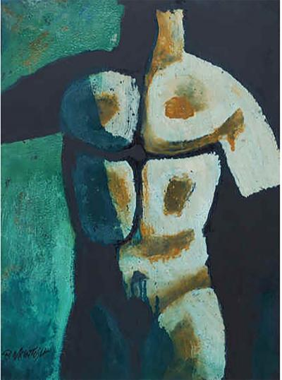Maurice Green Male Nude in Green