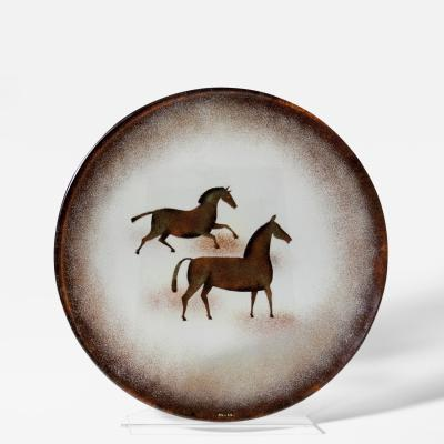 Maurice Heaton Enameled Charger