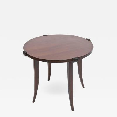 Maurice Jallot French Late Art Deco Rosewood Occasional Table or Gueridon