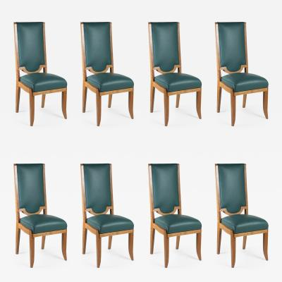 Maurice Jallot Maurice Jallot Set of Eight Dining Chairs