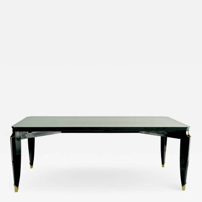 Maurice Jallot Maurice Jallot blackened wood dinning table with gold bronze accent