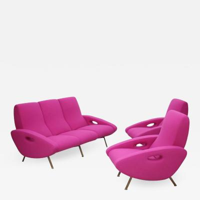 Maurice Mourra Fr res Ultra Rare Documented Sofa and Armchair Set by Maurice Mourra Freres