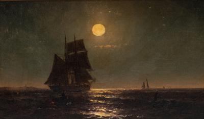 Mauritz Frederik De Haas A CALM NIGHT ON THE SEAS BY MAURITZ DE HAAS