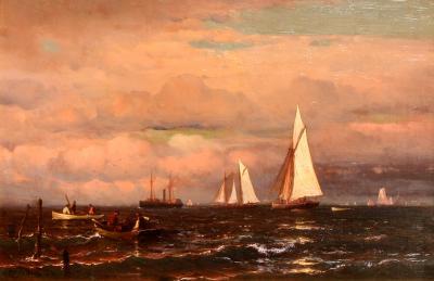 Mauritz Frederik Hendrik De Haas Daybreak on the East Coast