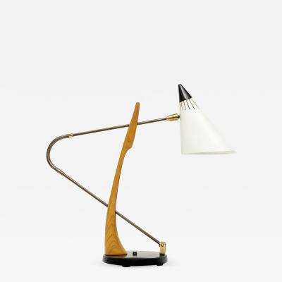 Maurizio Tempestini Adjustable Table Lamp by Maurizio Tempestini for Lightolier
