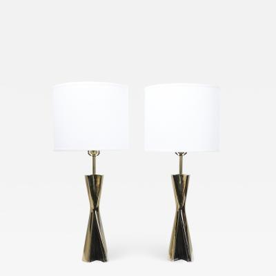 Maurizio Tempestini Maurizio Tempestini Sculptural Brass Table Lamps