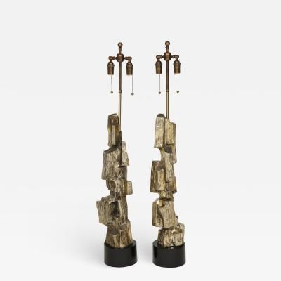 Maurizio Tempestini Pair of 1970s Brutalist Lamps by Ma