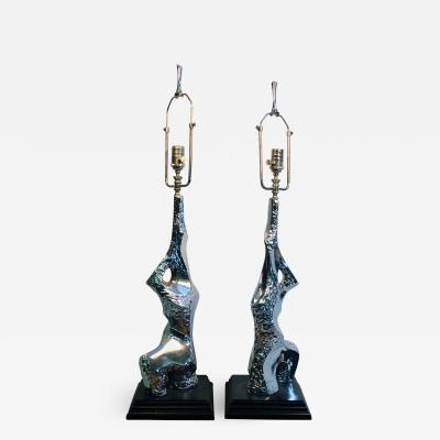 Maurizio Tempestini Pair of Sculptural Lamps by Tempestini for Laurel