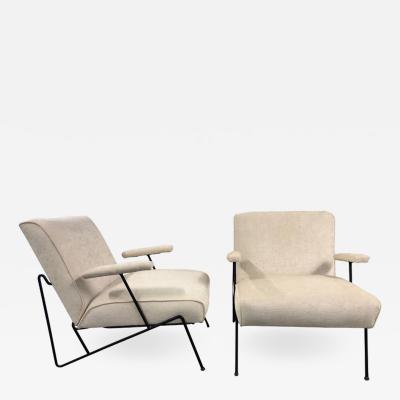 Maurizio Tempestini Pair of Wrought Iron Lounge Chairs by Maurizio Tempestini for Salterini