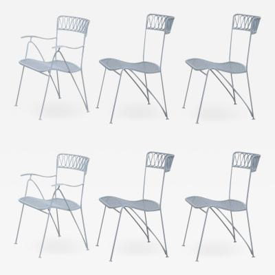Maurizio Tempestini Set of Six Indoor Outdoor Dining Chairs by Maurizio Tempestini for Salterini