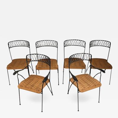 Maurizio Tempestini Set of Six Salterini Chairs by Maurizio Tempestini