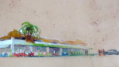Maurizio Tempestini Watercolor on Paper La Capannina al Forte Maurizio Tempestini 1939