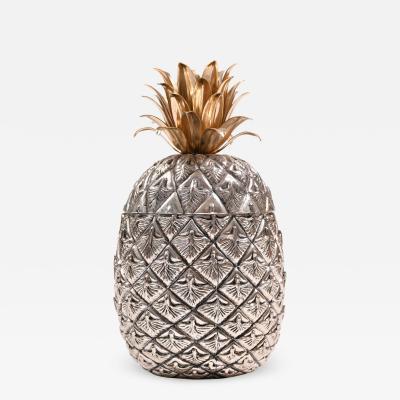 Mauro Manetti 1960s Italian Pineapple ice bucket by Mauro Manetti