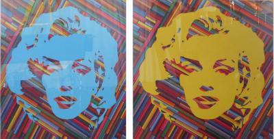 Mauro Oliveira Set of Two Mauro Oliveira Marilyn Monroe Lithographs