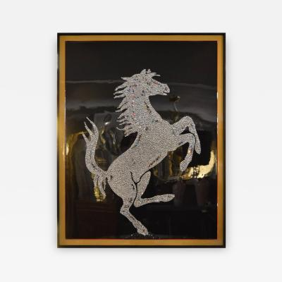 Mauro Oliveira Swarovski Crystal Ferrari Horse by Mauro Oliveira