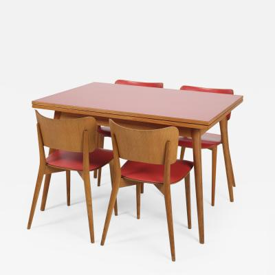 Max Bill Max Bill Folding dining table and 4 chairs Horgen Glarus 1957
