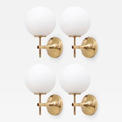 Max Bill Signed Set of Four 1960s Swiss Max Bill Wall Lights or Sconces for Temde Leuchte