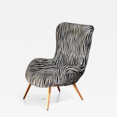 Max Ernst Ernst Jahn 1950s wingback lounge chair