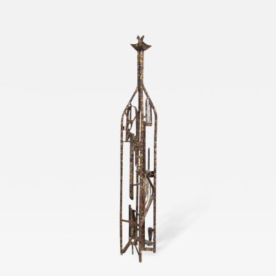 Max Finkelstein Brutalist Mid Century Modern Brutalist Sculpture by Max Finkelstein