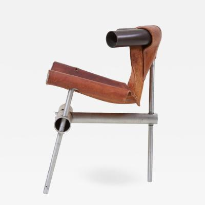 Max Gottschalk Max Gottschalk Prototype Leather Sling Chair US 1960s
