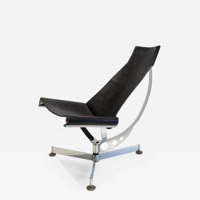 Max Gottschalk Max Gottschalk Sling Chair in Chrome and Leather