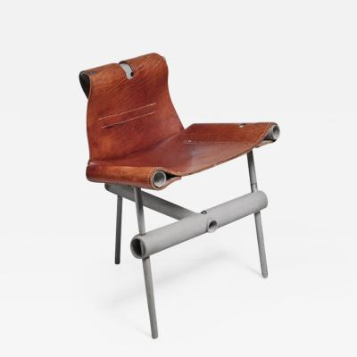 Max Gottschalk Max Gottschalk prototype leather sling chair USA 1960s