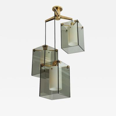 Max Ingrand 3 Light Pendant by Max Ingrand for Fontana Arte