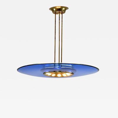 Max Ingrand Blue glass chandelier