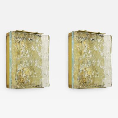 Max Ingrand Chiseled Glass Sconces by Max Ingrand for Fontana Arte Mod 2311 Italy 1960s