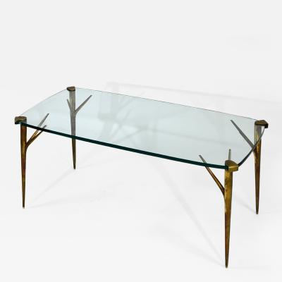 Max Ingrand Coffee Table in Brass and Glass