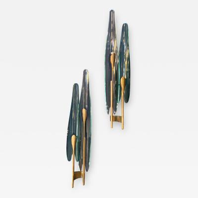 Max Ingrand Dalia sconces by Max Ingrand for Fontana Arte Italy 1950s