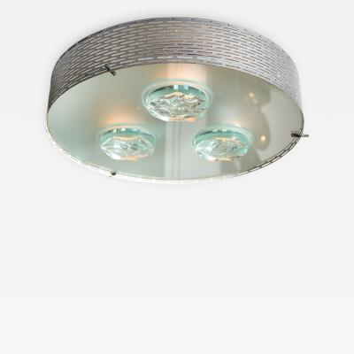 Max Ingrand Flush Mount Fixture by Max Ingrand for Fontana Arte